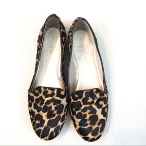 Coach Smoking Flats Leopard Calf Hair - 7